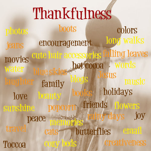 Gratitude and Thankfulness